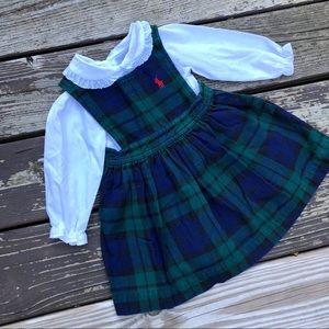 Ralph Lauren Traditional Plaid Jumper+Collar Shirt